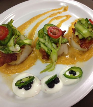 Scallops at the Royal Grille