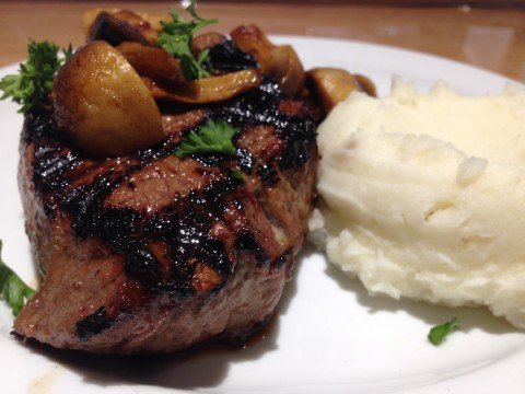 steak at the Royal Grille