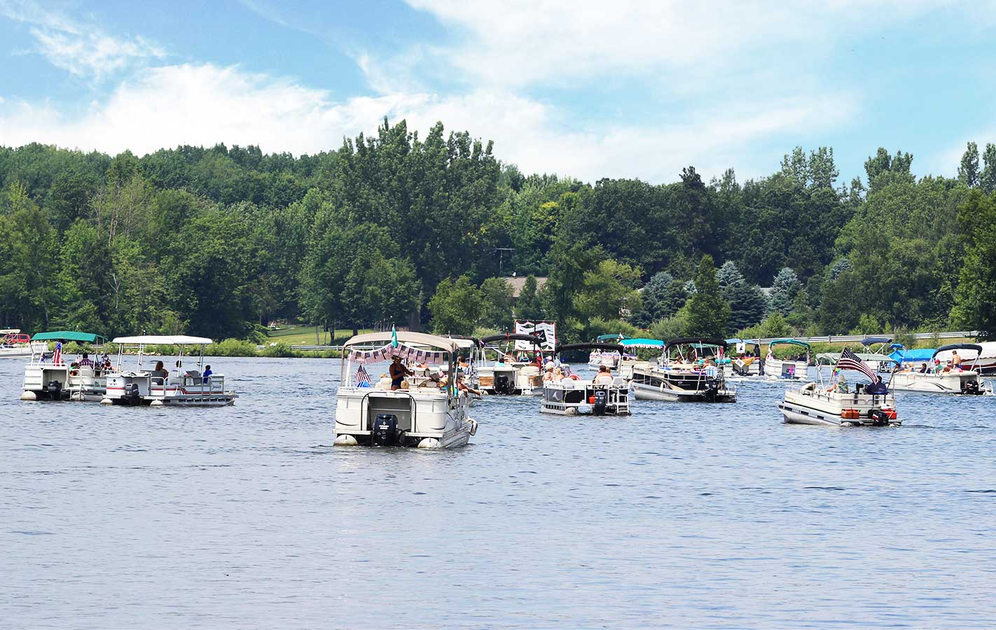 boating on the lakes at Canadian lakes