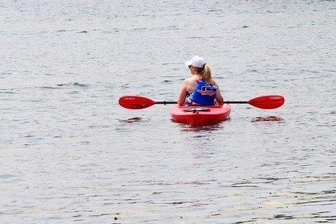 kayak, kayaking on the lakes at Canadian lakes