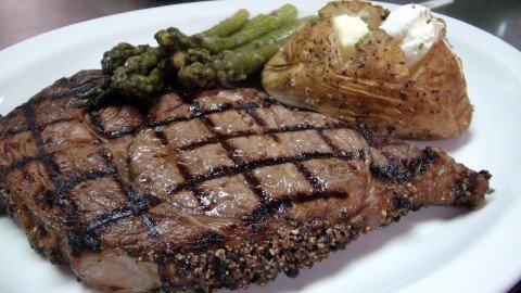 Ribeye dinner at the Royal Grille