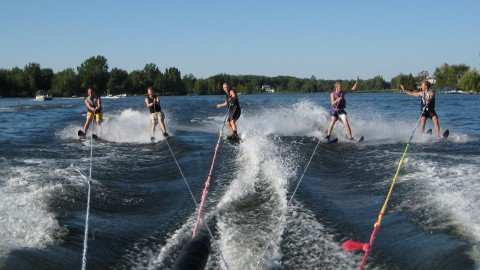 water ski on the lakes at Canadian lakes